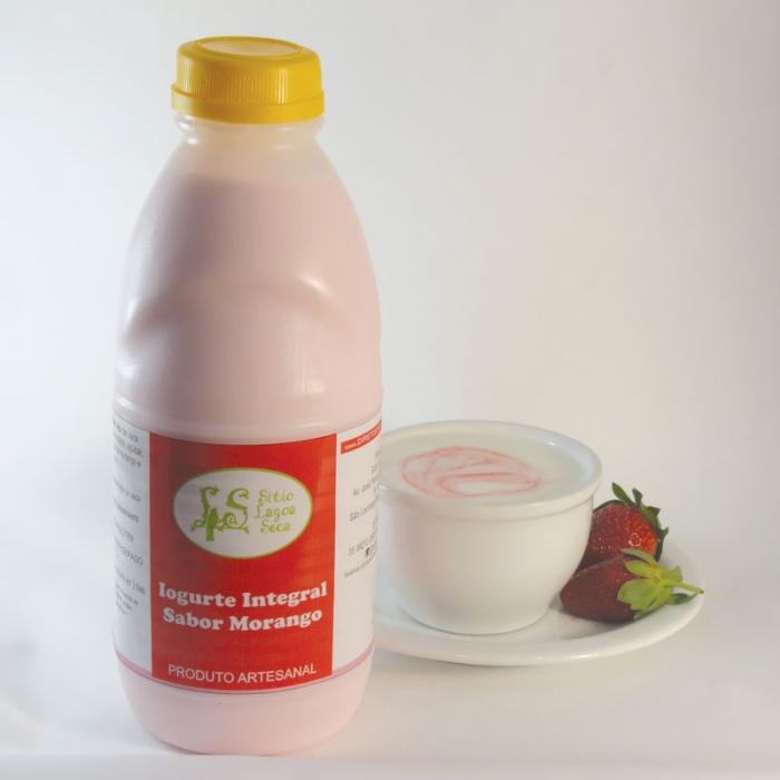 Iogurte de Leite de Cabra sabor Morango